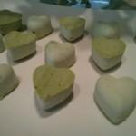 Feurige Matcha-Chili-Herzen