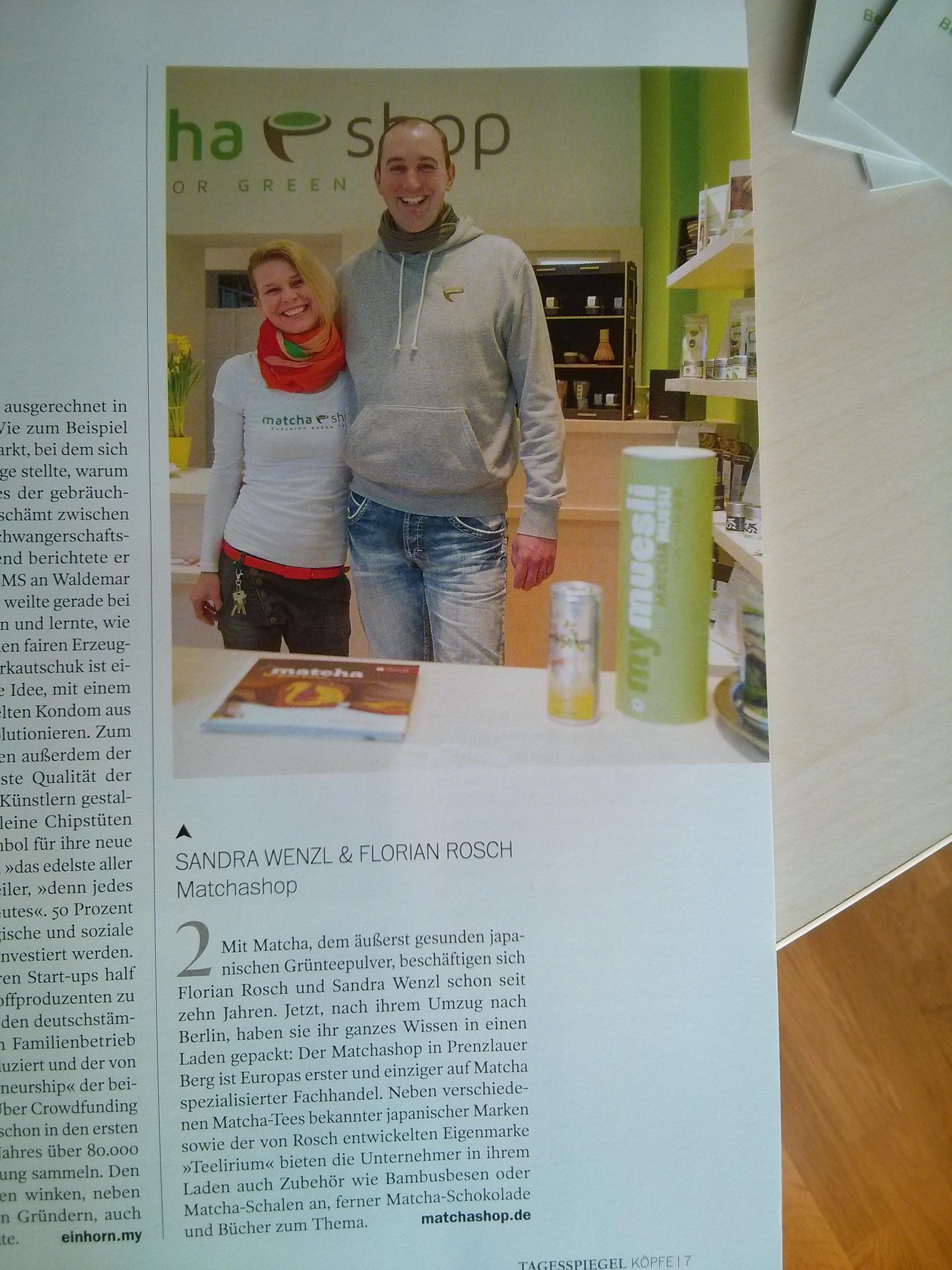 """Beitrag im Magazin """"Köpfe"""" des Tagesspiegels"""