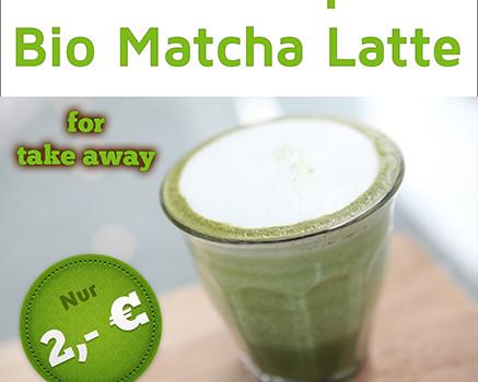 Matcha pur & Matcha Latte to go