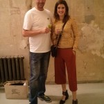 matchashop Inhaber Florian Rosch und Model Marie Nasemann