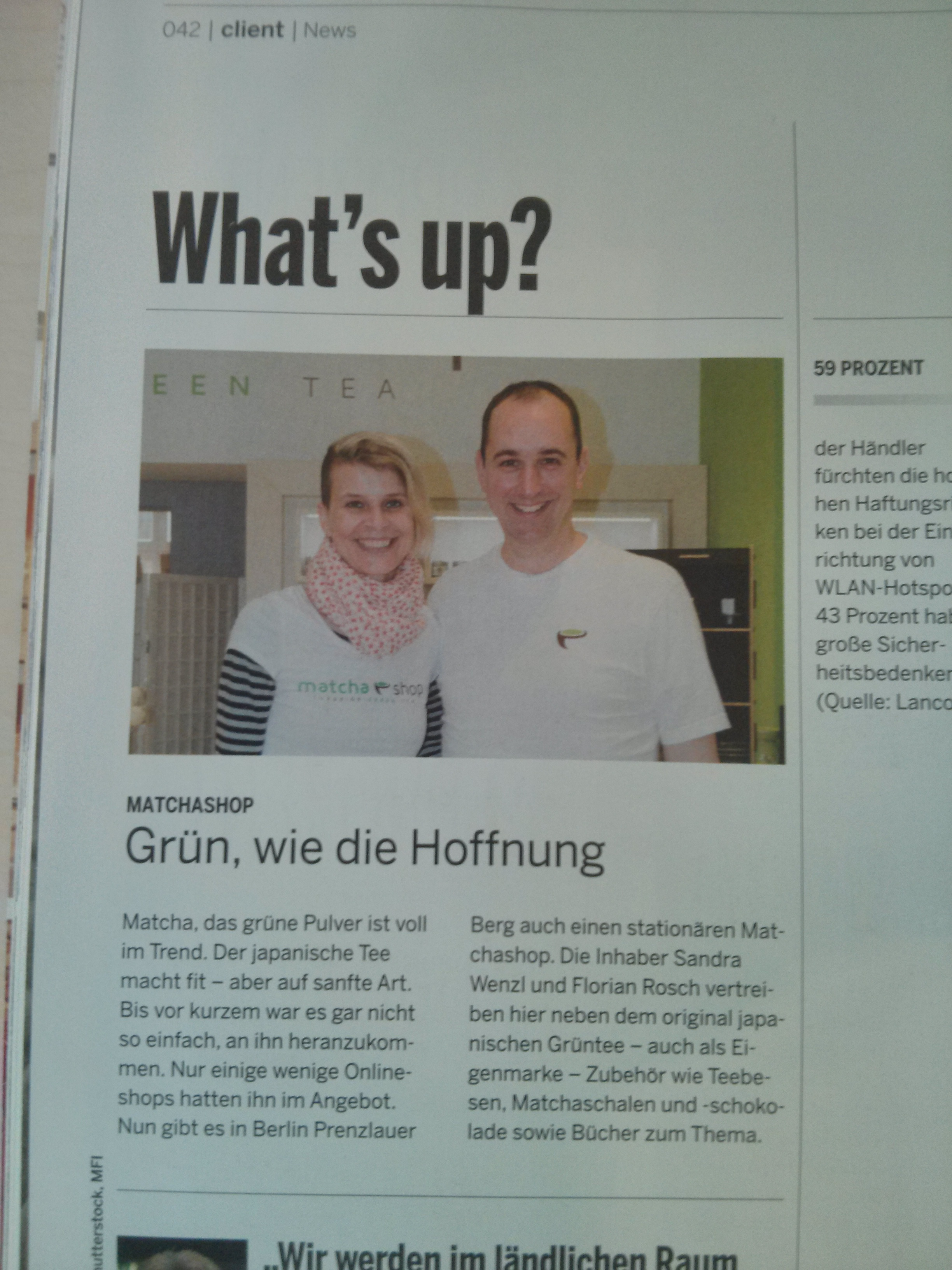 matchashop im Magazin BusinessHandel