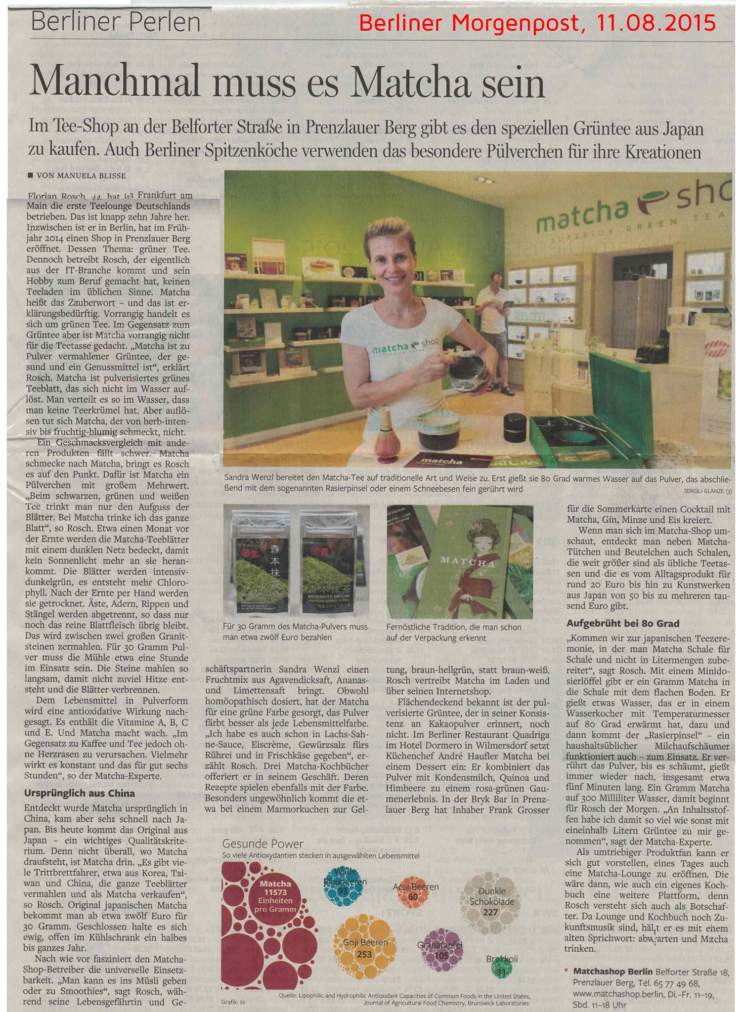 Berliner Morgenpost vom 11. August 2015