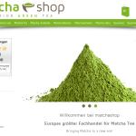 Neues Shopdesign www.matchashop.de