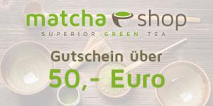 matchashop Gutschein 50 Euro