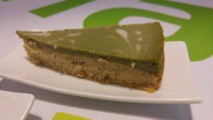 Matcha-Cashew-Cheesecake (vegan)