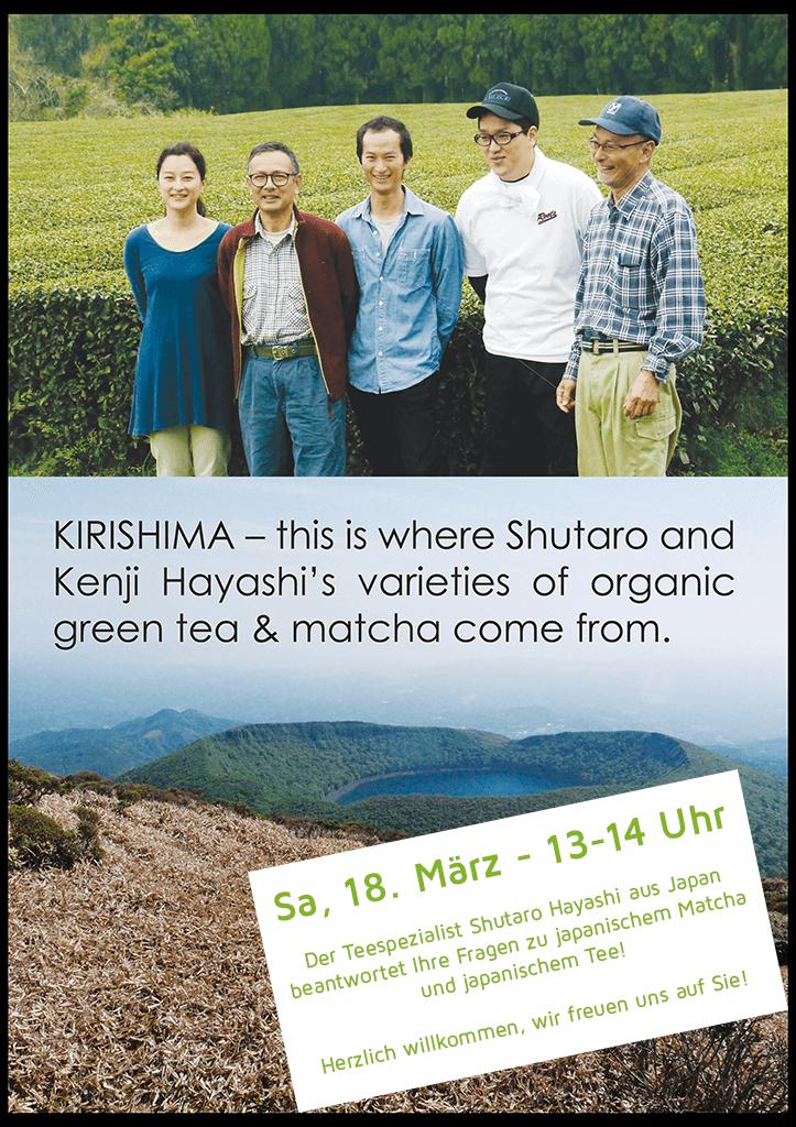 18. März - 13-14 Uhr im matchashop Berlin