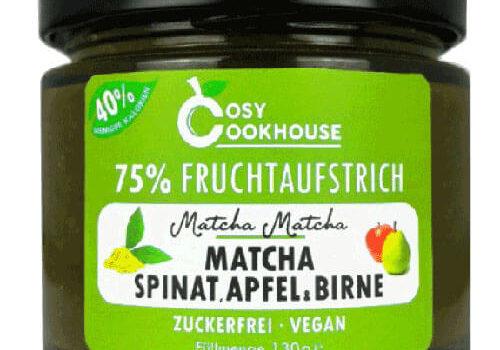 75% Fruchtaufstrich – Matcha, Spinat, Apfel & Birne
