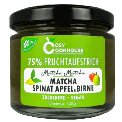 75% Fruchtaufstrich - Matcha, Spinat, Apfel & Birne