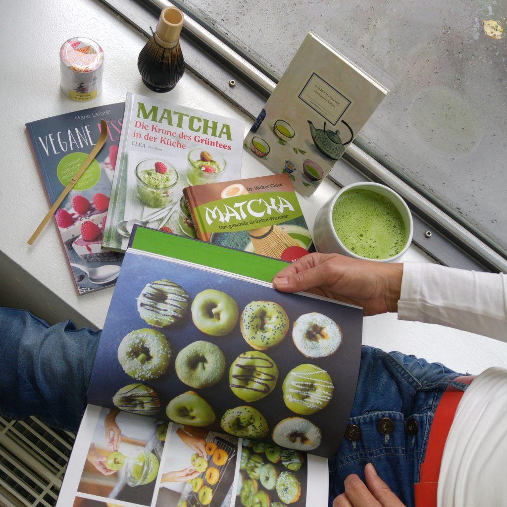 Matcha Bücher im Herbst