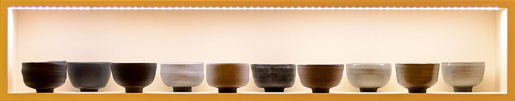 Matchaschalen der Keramikwerkstatt Dirk Aleksic