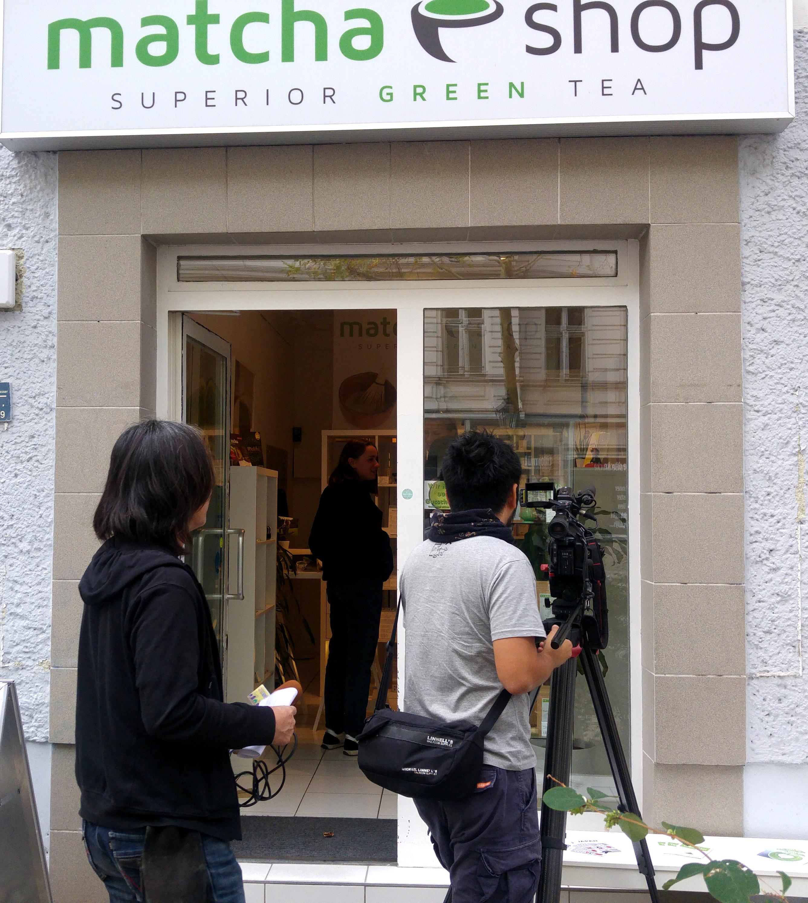 Dreharbeiten im matchashop fürs japanische TV